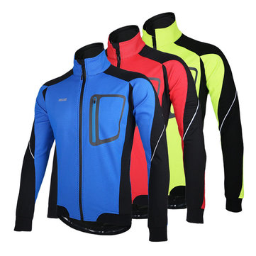 ARSUXEO Sports Cycling Clothes Bike Bicycle Fleece Jersey Long Sleeve Clothing